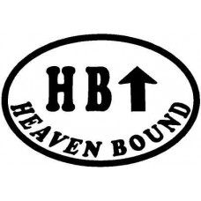 HB Heaven bound oval with arrow