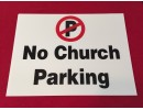 NO CHURCH PARKING
