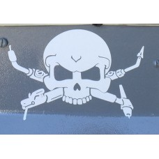 Welders skull and crossbones