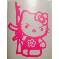 Hello Kitty with ak47