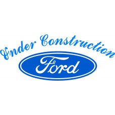 Under construction Ford logo